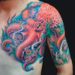 Tatuaje de pulpo realista