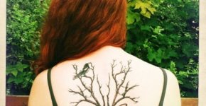 Deer tattoo on the back
