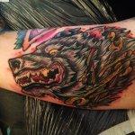 David Andre Wolf tattoo