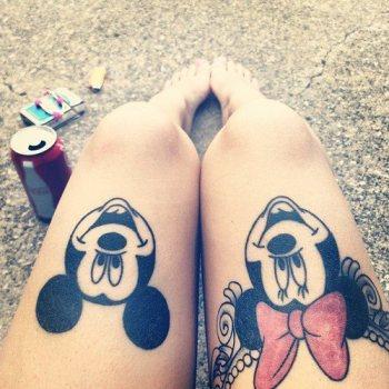 Tatuaje mickey y mimi