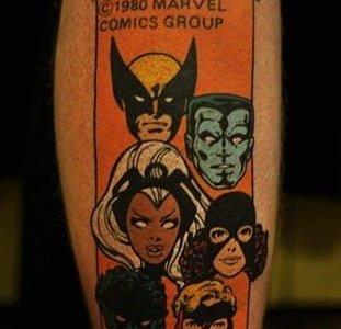Clasic comic tattoo