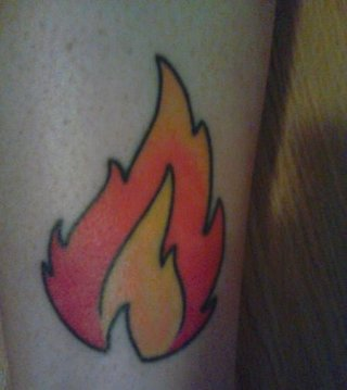 Tatuaje fuego