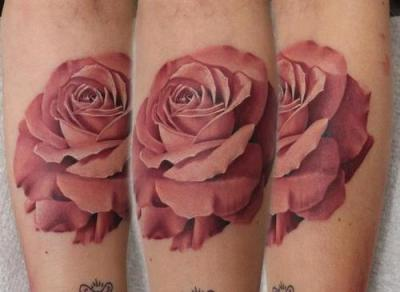 A rose tattoo