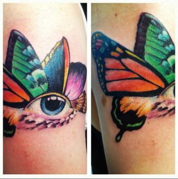 Eye Butterfly tattoo