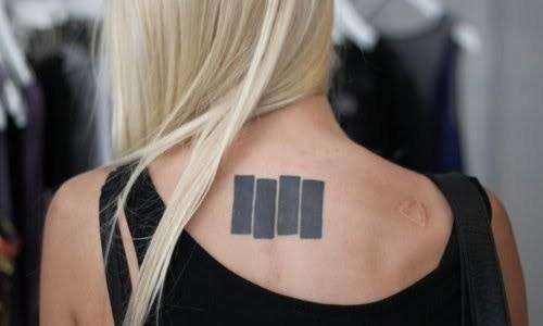 Black Flag tattoo for girl