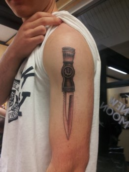 Dagger tattoo for men