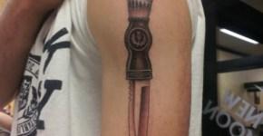 Dagger tattoo for men