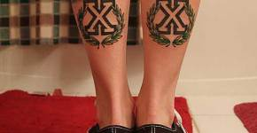 Double X tattoo
