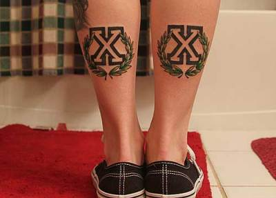 Double X tattoo