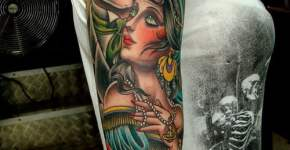 Arm tattoo of a couple