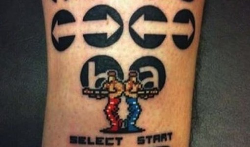 Contra tattoo (video game)