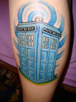 Tardis tattoo for girls