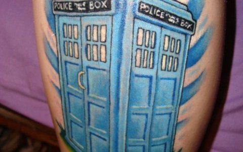 Tardis tattoo for girls