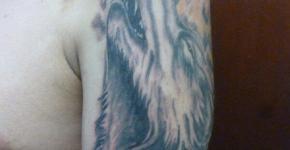 Wolf tattoo Piña Tattoo