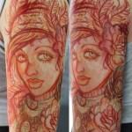 Tatuaje retrato estilo bosquejo