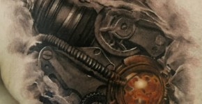 Cyborg Steampunk tatuaje