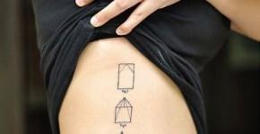 Avión de papel tatuado