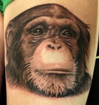 Tatuaje de un chango