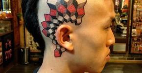 Tatuajes en la cabeza de hombres