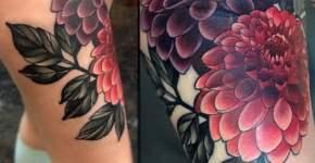 Flower tattoos on thigh