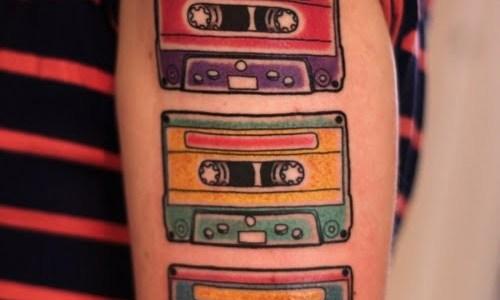 Casette tattoo