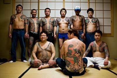 Mafia japonesa tatuajes