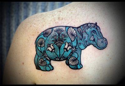 Egyptian Hippo tattoo