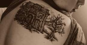 Spooky House tattoo