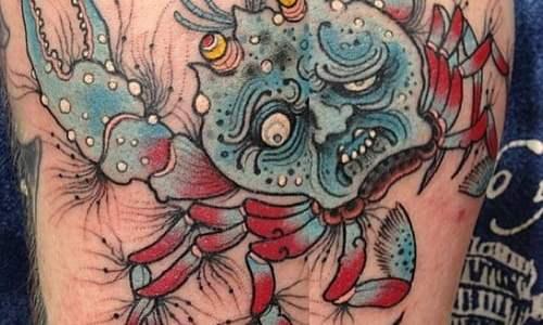 Heikegani tatuaje