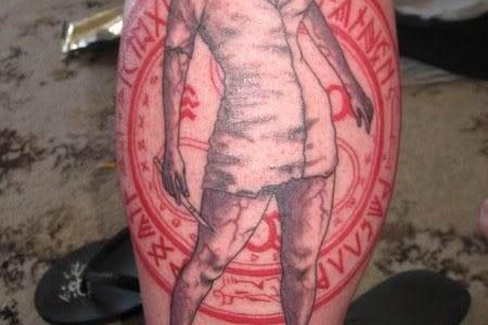 Tatuaje de Enfermera de Silent Hill