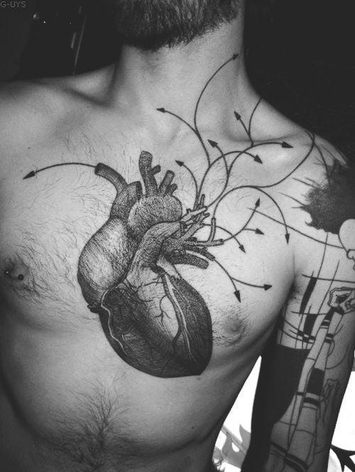 Tatuaje Corazón En El Pecho Tatuajesxd