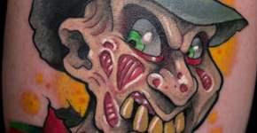 Tatuaje de Freddy Krueger estilo caricatura