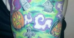 Tatuaje cementerio embrujado
