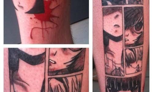 Tatuaje historieta de caricatura