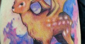 Ciervo con alas (tatuajes extraños)