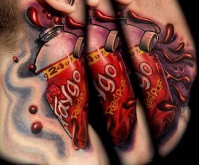 Tatuaje de refresco Faygo