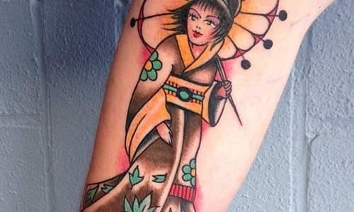 Tatuajes tradicionales japoneses geishas