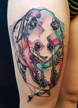 Tatuaje oso panda