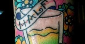 Tatuaje de un vaso de limonada