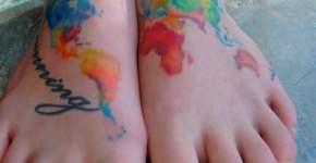 Tatuaje Mapa terráqueo