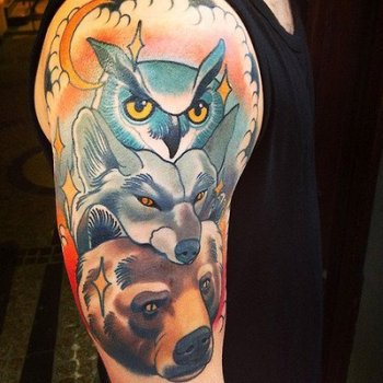 Tatuaje animales bosque