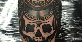 Tatuaje cráneo de samurai