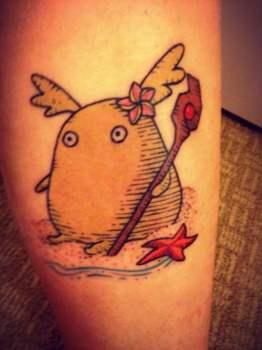 Tatuaje de anime japonés
