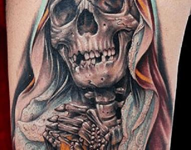 Tatuaje Santa muerte