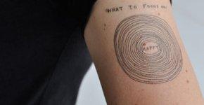 Tatuaje círculos concentricos