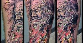 Tatuaje hombre agua