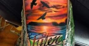 Tatuaje paisaje marino