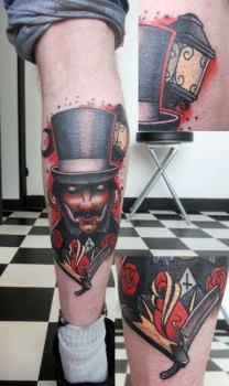 Tatuaje hombre sombrero