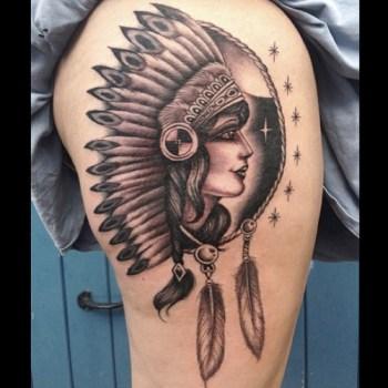 Tatuaje De Mujer India Tatuajesxd