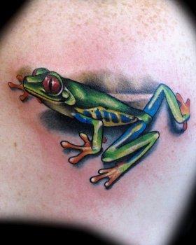 Tatuaje rana verde